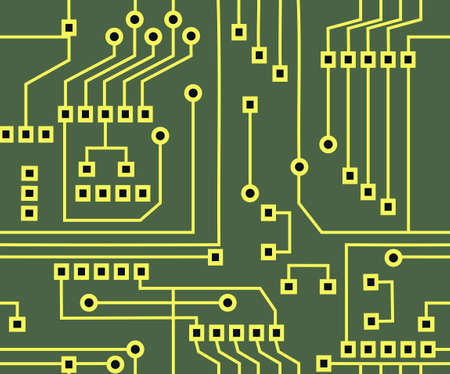 Abstract seamless background graphic depicting printed circuit board  photo