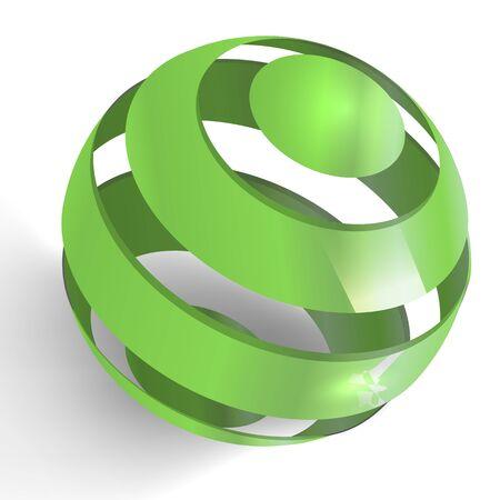3d illustration of spiral globe Stock Illustration - 8641846