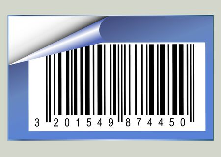 Bar code sticker with pealed corner Stock Photo - 9182719