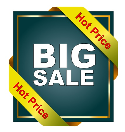 hot sale: Big sale tag advertising with hot price