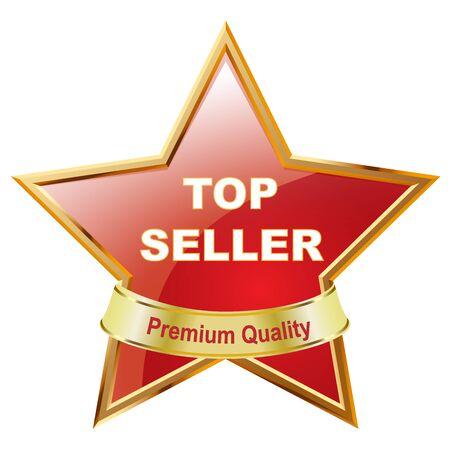 Bestseller medal on white background Stock Photo - 9182733