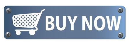 orden de compra: Bot�n comprar ahora con un carrito de compras Foto de archivo