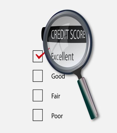 Concept of good credit score for business photo