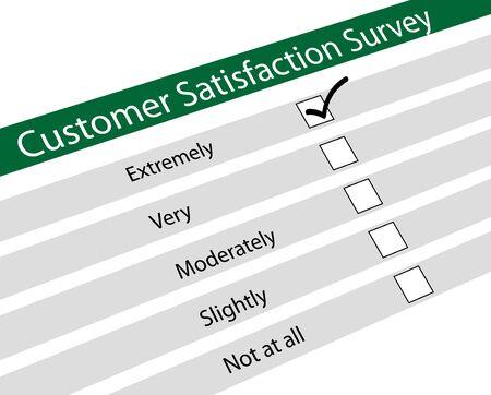 chose: Illustrazione di indagine sulla soddisfazione del cliente
