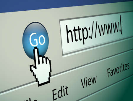 Browsing the internet with internet explorer Stock Photo - 9182679