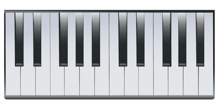 octave: Illustration of two octaves of piano keys