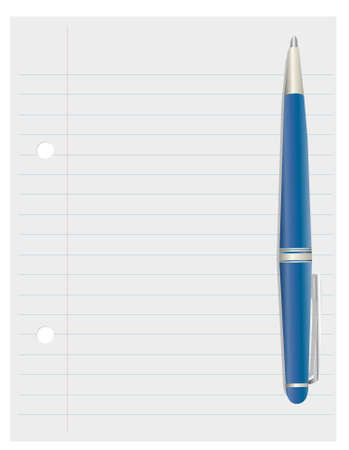 Illustration of pen and paper Stock Illustration - 9181927