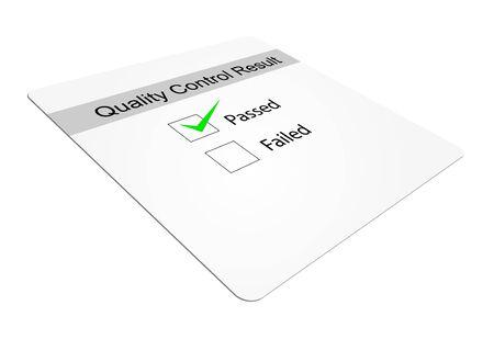 tickbox: Quality control tickbox with passed ticked