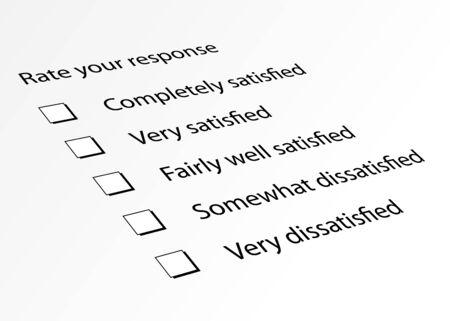 Survey form for customer satisfaction response photo