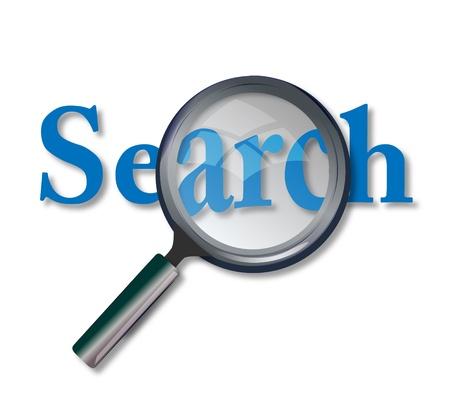 google: Concepto de b�squeda del sitio web con lupa