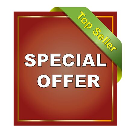 Special offer sticker on white background photo