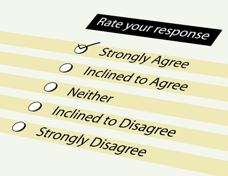 Form for survey response option Stock Photo - 9182706