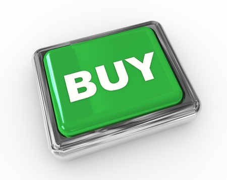 3d chrome push button with text 'buy' Stock Photo - 9182850