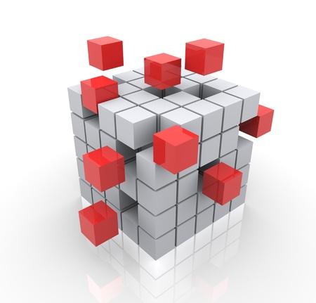 modular: 3d render of construction concept