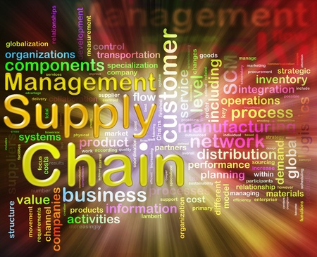 Words related to Chain supply management Stock Photo - 10027966
