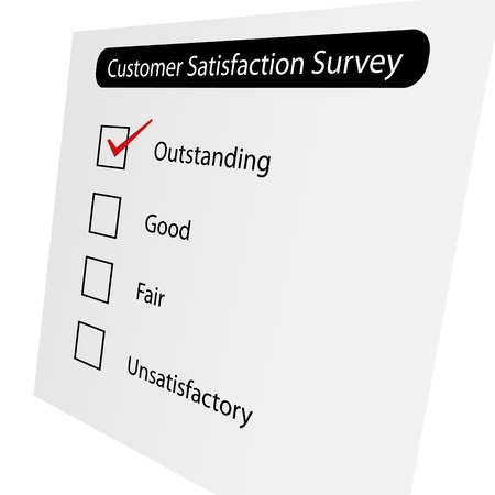 Questionnaire about the level of satisfaction Stock Photo - 10027855