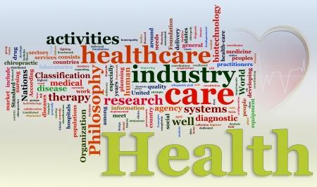 salud publica: Palabras en un wordcloud de la asistencia sanitaria
