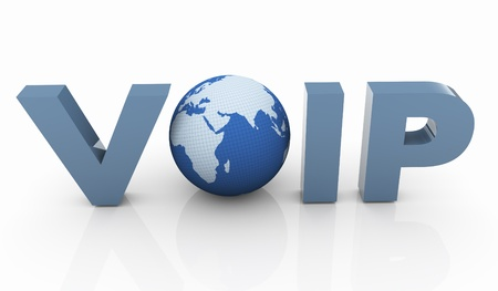 3d render of Voip - Voice Over IP Internet Communication photo