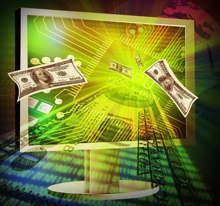 Illustration of online making money concept Stock Illustration - 10027958