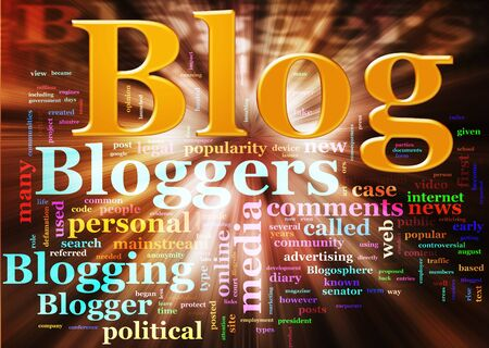 blogger: Illustration of Wordcloud related to word blog