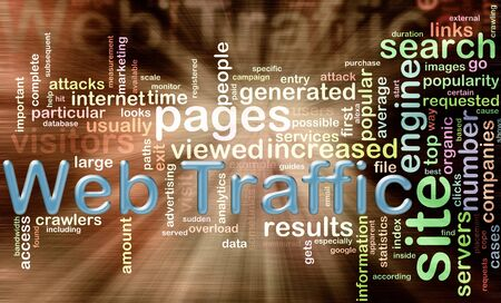 search result: words in the Wordcloud related to web traffic Stock Photo