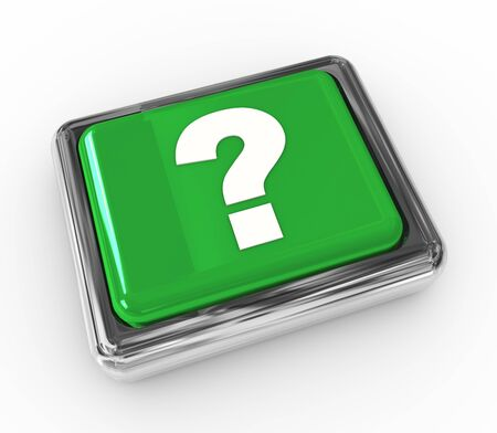 3d chrome push button with question mark symbol Stock Photo - 10327205