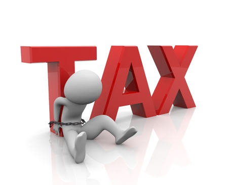 tax law: 3d render of taxes burden concept Stock Photo