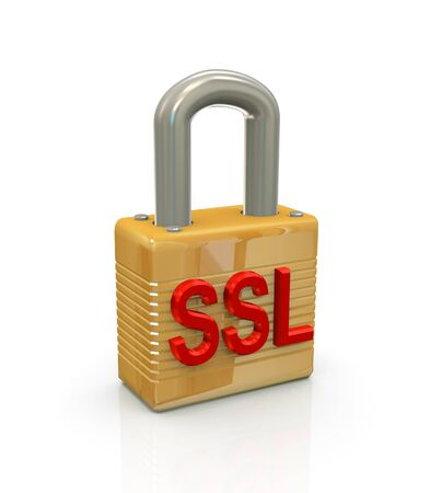 ssl: 3d render of internet protocol security concept Stock Photo