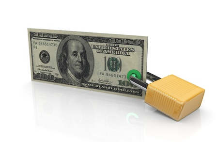 secure payment: 3d render of financial security concept Stock Photo
