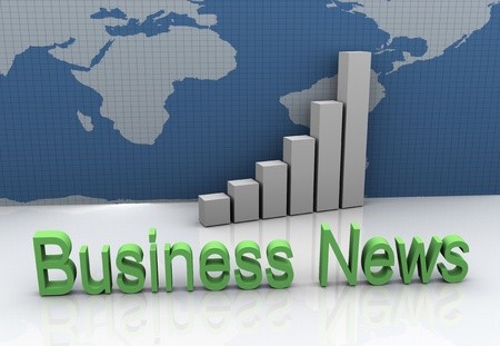 3d render of global business news on world map background Stock Photo - 10345760