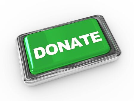 fundraising: Push button donate Stock Photo