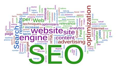 computer service: W�rter in einem wordcloud von SEO - Search Engine Optimization