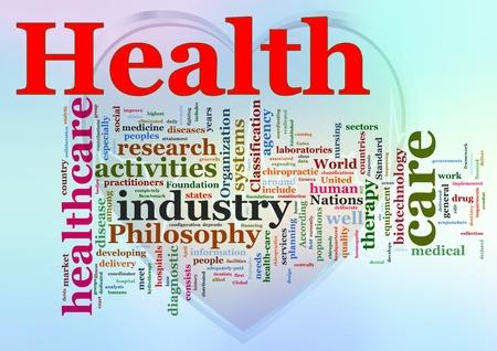 pacjent: Słowa w wordcloud opieki zdrowotnej.