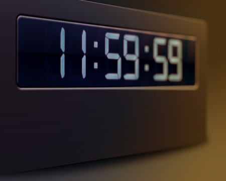 Illustration of digital clock closeup illustration