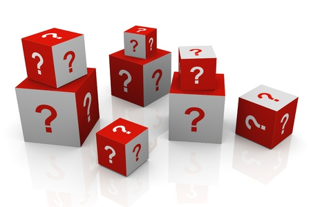 3d render of question mark cubes Stock Photo - 10402396