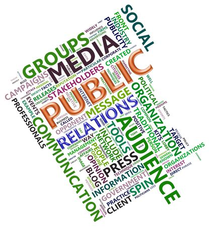 Wordcloud related to word public relation photo