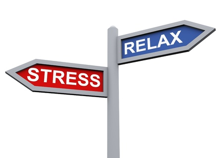3d sign of relax and stress Stock Photo - 10402335