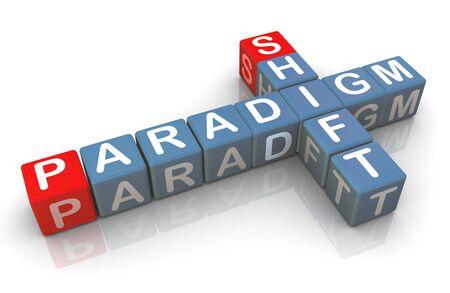 paradigm: 3d render of buzzword