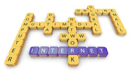 3d render of crossword internet Stock Photo - 10676956