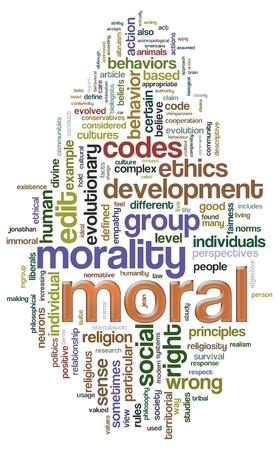 valores morales: Ilustración de Wordcloud relacionadas con la palabra