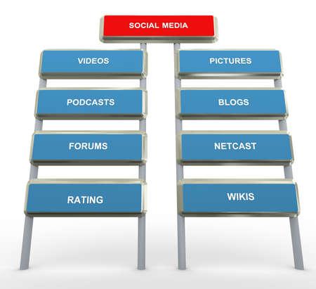 3d render of social media concept Stock Photo - 10677006