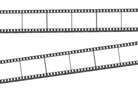 Illustration of blank film strip on white background