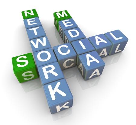 social relation: 3d render of crossword of  Stock Photo