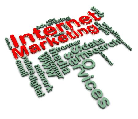 3d render of internet marketing wordcloud Stock Photo - 10858373