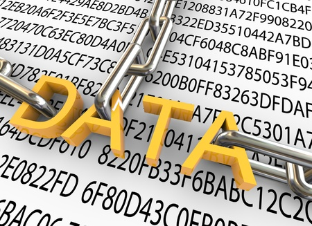 data protection: 3d text  Stock Photo
