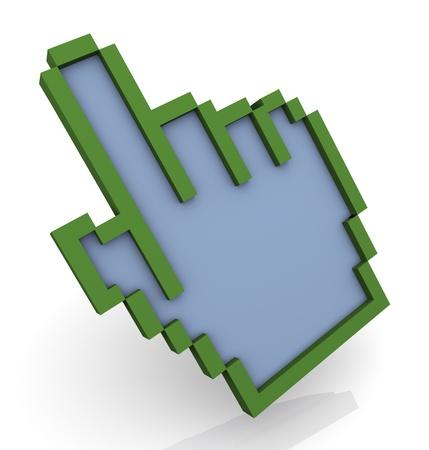 3d render of hand cursor  photo