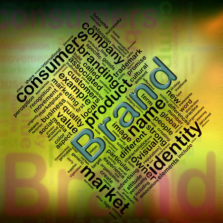 Illustration of wordcloud related to word 'brand' Stock Illustration - 10907310