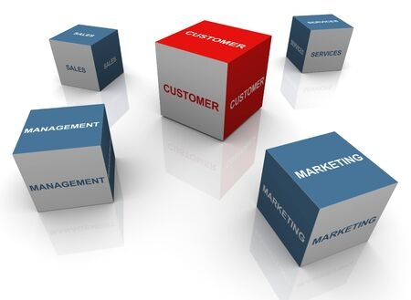 3d render of sale promotion related text boxes Stock Photo - 10991948