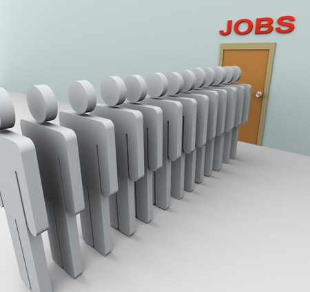 3d people looking for job photo