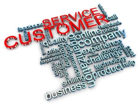 3d render of customer service wordcloud Stock Photo - 11410747